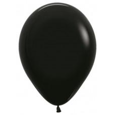 Шар (12''/30 см) Черный (080), пастель.