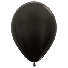 Шар (12''/30 см) Черный (580), металлик.