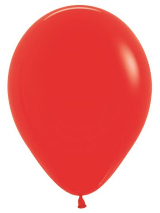Шар (10''/25 см) Красный (015), пастель.