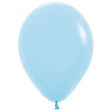 Шар (10''/25 см) Светло-голубой (039), пастель.