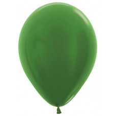 Шар (10''/25 см) Зеленый (530), металлик.