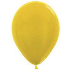 Шар (10''/25 см) Желтый (520), металлик.
