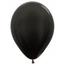 Шар (10''/25 см) Черный (580), металлик.