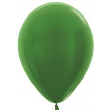 Шар (12''/30 см) Зеленый (530), металлик.