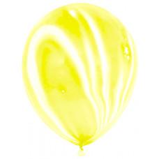 Шар Мрамор (12''/30 см) Желтый, агат.