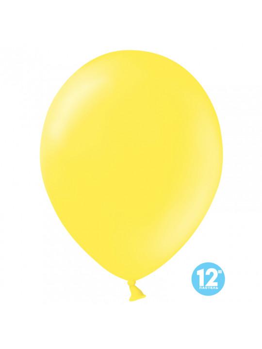 Шар (12''/30 см) Желтый, пастель лайт.