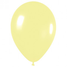 Шар (12''/30 см) Светло-желтый (120), пастель.