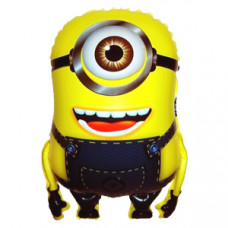 Шар (24''/61 см) Фигура, Миньон одноглазый, Желтый, 1 шт.