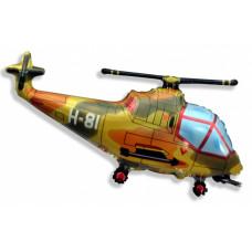 Шар (38''/97 см) Фигура, Вертолет, Военный, 1 шт.