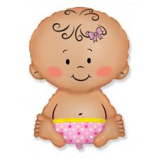 Шар (26''/66 см) Фигура, Малышка девочка, 1 шт.