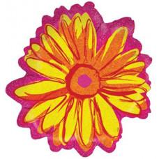 Шар (22''/56 см) Фигура, Цветок, Желтый, Голография, 1 шт.
