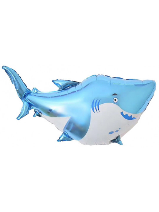 Шар (38''/97 см) Фигура, Акула, Голубой, 1 шт.