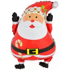 Шар (26''/66 см) Фигура, Дед Мороз, 1 шт.