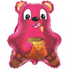 Шар (22''/56 см) Фигура, Медведь с мёдом, Фуше, 1 шт.