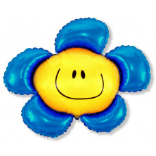 Шар (41''/104 см) Фигура, Солнечная улыбка, Синий, 1 шт.