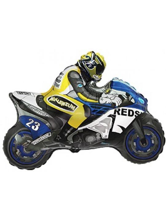 Шар (31''/79 см) Фигура, Мотоцикл, Синий, 1 шт.